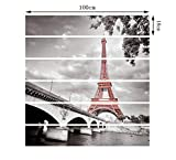 QIAO,6pcs /13pcs, Stainers Sticker City Tower DIY Stair Sticker Autoadesivo 3D Wall Sticker Impermeabile, 18 * 100cm