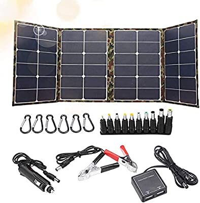 120W Foldable Solar Panel Charger Kit, Solar Panel, Waterproof and durable, Ultra-Light and Robust for Portable Generator Power Station, Trailer Camper RV, Boat (Dual 5V USB and 18V DC output)