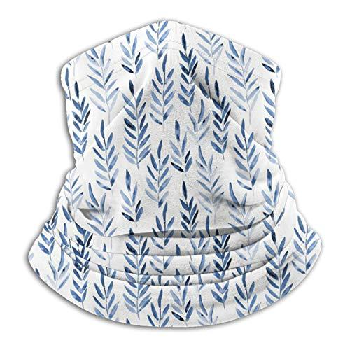 Polaina para el cuello de las hojas mágicas de color azul clásico, polaina para la cabeza, bufanda mágica, máscara facial, pasamontañas, banda para el sudor para la pesca