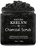 Activated Charcoal Scrub - Exfoliating Face Scrub & Body Scrub, Deep Cleansing Exfoliator Pore Minimizer Reduces Wrinkles Acne Scars Anti Cellulite Facial Blackhead Remover 10 OZ