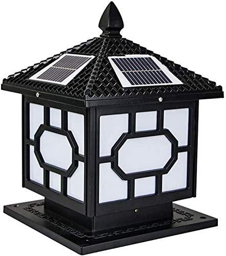 Solar-Schwarz Basis dimmbaren Leuchten, im Freien wasserdichten Spalte LED Scheinwerfer mit Fernbedienung, drei Farbtemperatur für Gärten, Straßen, Gehwege alte Straße,Black-Small