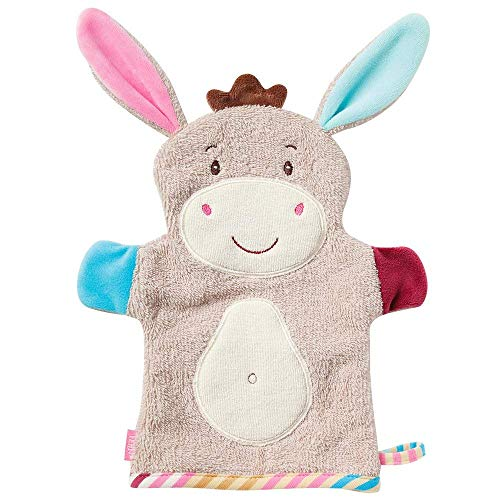 Fehn 081442 Waschhandschuh Esel, Monkey Donkey