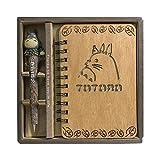 Notebook Retro Totoro de madera para votre Bullet Journal Notebook Journals Diary Sketchbook