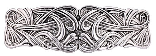 kkjoy Metal Hair Barrettes Large Hand Crafted Fashion Hair Clips Automatic Hair Accessories for Woman girl (2 Swirl, Silver)