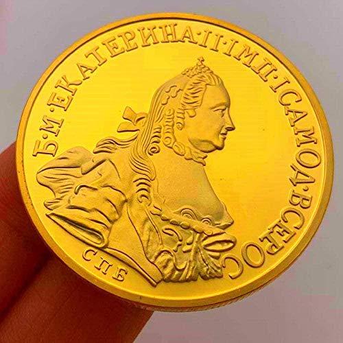 Colección de Monedas Moneda Conmemorativa Carácter Ruso Jaula Ligera Colección de Monedas conmemorativas para Mujer Moneda de Oro Proceso de Monedas Moneda Personalizada GOL