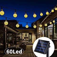 【12 Months REPLACEMENT】We promise 12 months FREE MONEY BACK or FREE NEW REPLACEMENT for the solar decorative lights, if you receive the defective products or have any question, please feel free to contact us 【Unique Globe Solar Lights】Our globe solar...