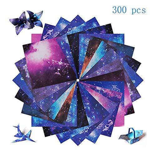 Papel Origami, Paquete De Estrellas Origami Plegable Hermoso Cielo De 300 Hojas Pliegue, Manualidades Para Niños Y Manualidades, Papel Decoración, Constelación Para Niños, 150 Hojas De 15 X 15 Cm