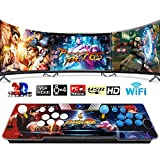 3D WiFi 4300 Classic Games Arcade Machine, Family Game 3D Pandora's Box, Support WiFi to Add More Games, Customized Button, 1280x720 Full HD, Search/ Save/ Hide/ Pause Game, 4 Players Online Game