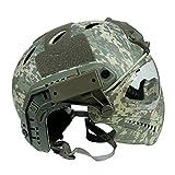 Hotour Taktischer Helm mit entfernbarer Gesichtsmaske und Schutzbrillen für Militärarmee Airsoft