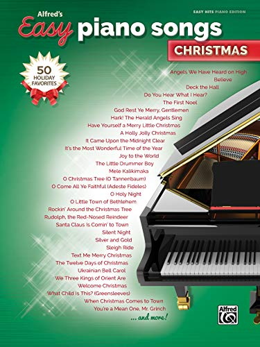 Alfred's Easy Piano Songs -- Christmas: 50 Christmas Favorites