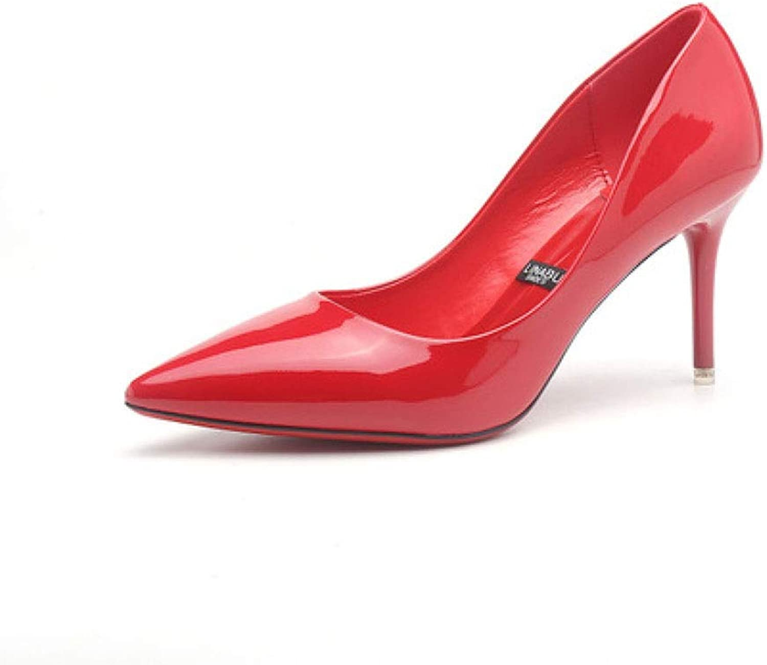 KTYXDE High Heels Temperament Sexy Work shoes High Heels Wedding shoes High Heels 8CM 5 colors Women's shoes (color   Red, Size   EU36 UK3.5 CN35)