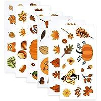 Viseeko 144-Pieces Window Clings Thanksgiving Window Stickers