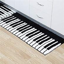 CH 林単純なパターン現代の家庭用滑り止めの台所のための吸収性フロアマットや浴室、サイズ:50x80cm(ピアノ) (Color : Piano)