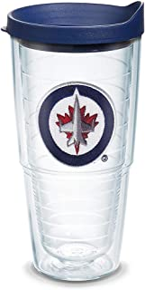 Tervis 1064962 NHL Winnipeg Jets Primary Logo Tumbler with Emblem and Navy Lid 24oz, Clear