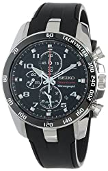 Seiko Men's SNAE87 Sportura Classic Chronograph Watch - see full details