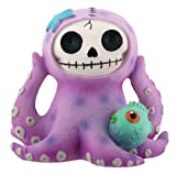 SUMMIT COLLECTION Furrybones Purple Octopee Signature Skeleton in Octopus Costume with Puffer Fish Friend