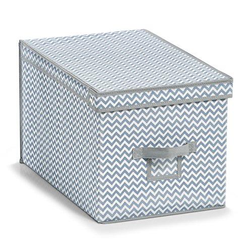Zeller 14625 Aufbewahrungsbox, Vlies, weiß/grau, ca. 31.5 x 48 x 30 cm
