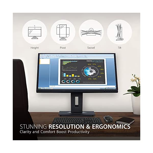 ViewSonic VG2448 24 Inch IPS Full HD Ergonomic Monitor with VGA, HDMI, DisplayPort, 5x USB, Eye Care for Work and Study at Home 5
