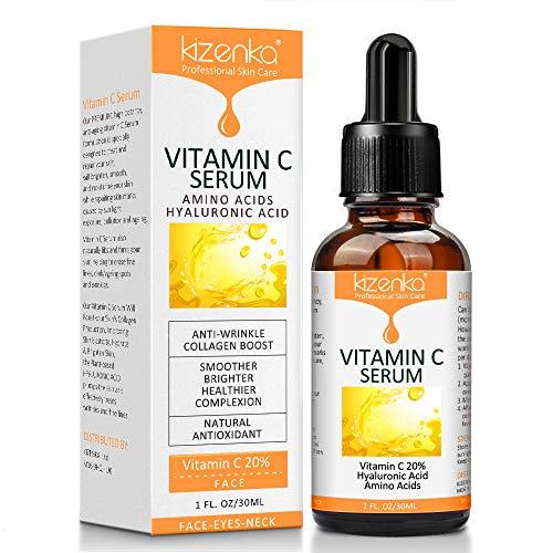 VITAMIN C SERUM für Gesicht und Augen / Hals mit Hyaluronsäure Serum - Anti Aging und Anti-Falten-Serum - Das Vitamin C Serum Will Pralle, Hydrate & Erhellen, Anti-Falten, Anti-Aging, Fades Age