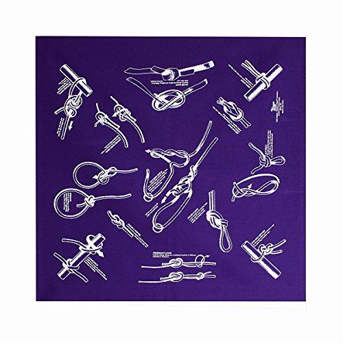 バンダナ ノッツ パープル ザ プリンテッド イメージ The Printed Image BANDANA KNOTS purple