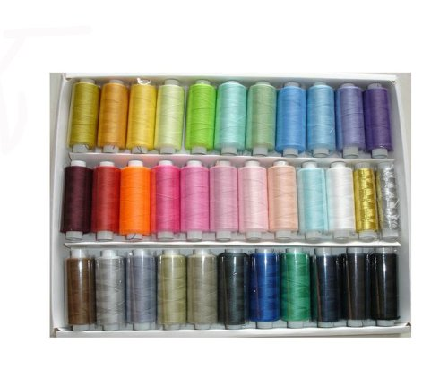 Learn More About Pigeon Fleet 33 Random Colors Polyester Sewing Thread for Sewing Machine and Home U...