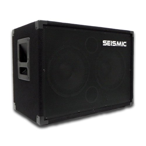 Seismic Audio - 210 Bass Guitar Speaker Cabinet PA DJ 400 Watts 2x10 PRO AUDIO