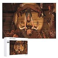 木製パズル1000ピースもつれたフリンとウラジミール ジグソー子供のための大人のパズルゲーム家の装飾商品のサイズ(75cmX50cm)