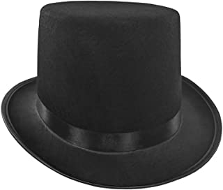 Mens Short Black Top Hat Cap Topper Steampunk Victorian Charles Dickens df8dc0fc4430