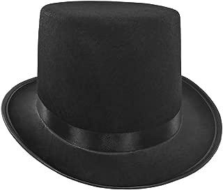 Mens Short Black Top Hat Cap Topper Steampunk Victorian Charles Dickens