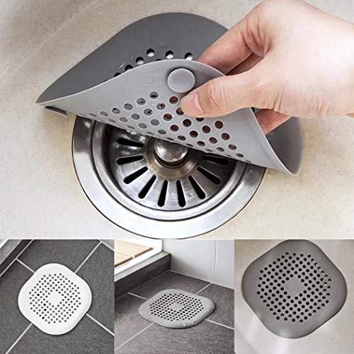 wumedy Shower Drain Cover,Anti-Clogging Filter Bathroom Drain Floor Sink Strainer Kitchen Tool,Bathtub Hair Catcher Drains & Strainers