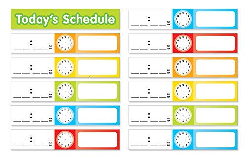 Scholastic Teacher's Friend Schedule Cards Pocket Chart Add-ons, Multiple Colors - Chart not included (TF5405)