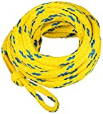 MESLE Tow-Rope 6P 60', floating Towable Rope for 6-Person, yellow-blue, Length 18.3 m, Polyethylen, Drag-Line,...
