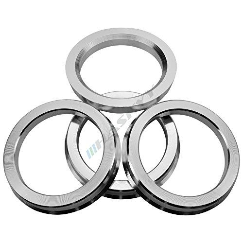4 Bagues De Centrage en en Aluminium Alu diverses tailles au choix (70.0 - 57.1)
