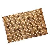 Precision Works Luxurious Bamboo Bath Mat for Shower, Bath, Spa Or Sauna 27x19 Large