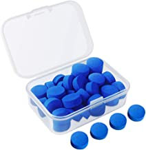 Kulannder 30 Pcs Pool Cue Tips 12mm Billiard Cue Stick Replacement Tips with Clear Box for Snooker Pool Cues (Blue Cue Tips)