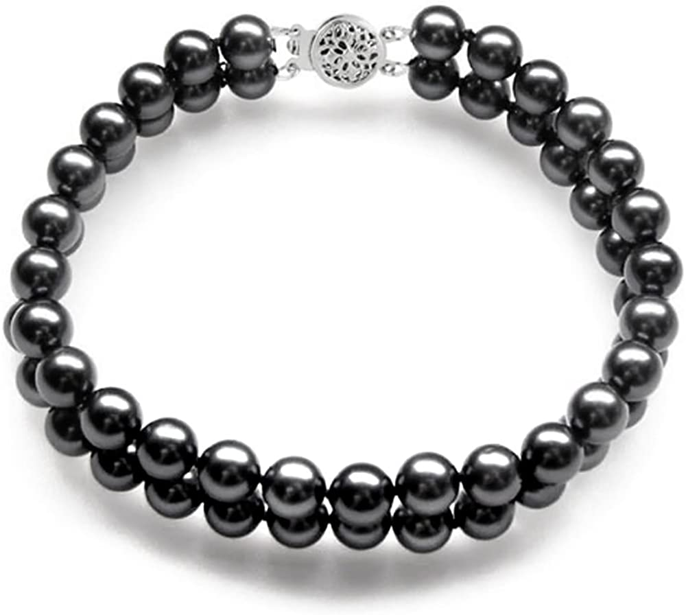 Fixed price for sale Double Strand AAAA Quality Black Brace Freshwater Pearl SEAL limited product Cultured