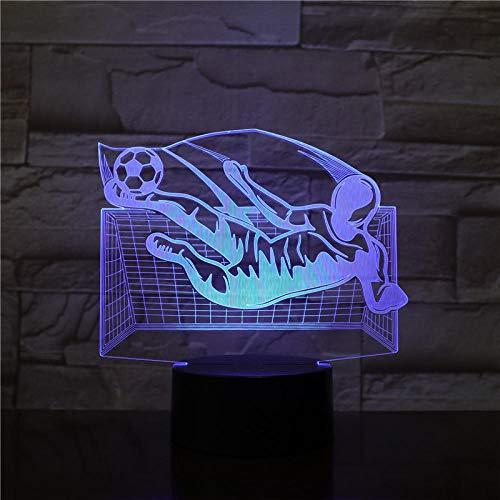 3d leuchtender Mädchenjunge Kinder 3D Lampe Football LED Nachtlicht Home Decoration Leuchtenkind Jungen Geburtstagsgeschenk Tabelle Nachtlicht All Soccer Club 7 Farben berühren