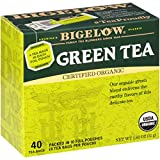 Bigelow Organic Green Tea Bags, 40 Count Box (Pack of 6) Caffeinated...