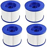LXTOPN – Juego de 4 cartuchos de filtro de repuesto para Wave Spa, cartucho de filtro de piscina, cartucho de filtro de tornillo hinchable, paso de...