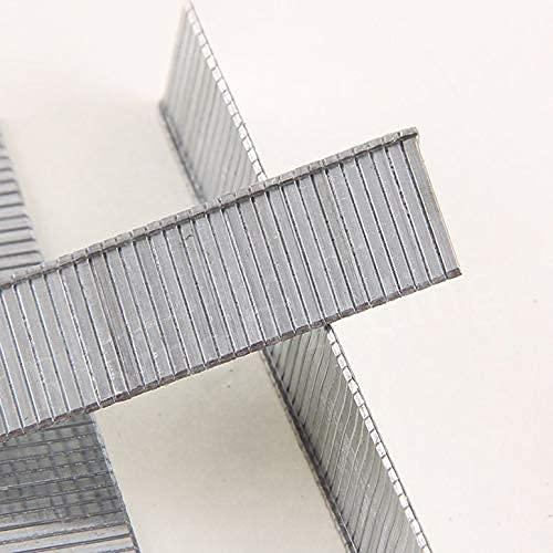 1000Pcs F10 Grapas Clavos a prueba de herrumbre de 10 mm de longitud para enmarcar Clavos eléctricos Grapadora Accesorios para pistola Herramienta de carpintero - Plata