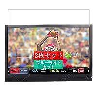 2枚 Sukix ブルーライトカット フィルム 、 23.54インチ Vizio E241i-A1 テレビ 向けの 液晶保護フィルム ブルーライトカットフィルム シート シール 保護フィルム(非 ガラスフィルム 強化ガラス ガラス )