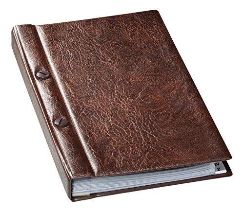 Durable VISIFIX 238211 - Tarjetero para 200 tarjetas de visita con índice, color marrón
