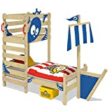 Wickey Toddler bed CrAzY Bounty Children`s bed Play bed for kids with slatted bed base, play platform and ship attachment