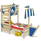 WICKEY Abenteuer-Bett CrAzY Bounty Kinderbett 90x200 Spielbett für Kinder mit Lattenboden,...