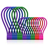 SMART&COOL [10 x 7.16'', 6 x 10.6''] Reusable Magnetic Cable Ties for Bundling and Organizing, Holding Stuff, Book Markers, Fridge Magnets, or Just for Fun
