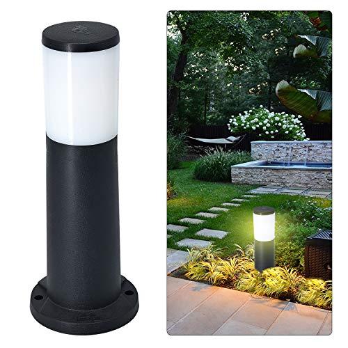 LED Aussenstehleuchte Stehleuchte Außenlampe IP55 40cm (H) Garten Geh Weg Stand Lampen Hof Beleuchtung Wegeleuchten, wegeleuchten außen 230V inkl. 12W E27 Licht Warmweiß 1500LM