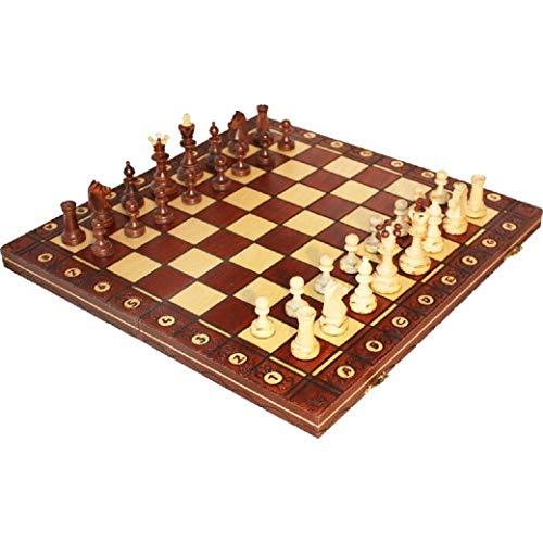Chess Senator Wooden chess set ポーランド製 木製チェスセット 42cm× 42cm [並行輸入品]