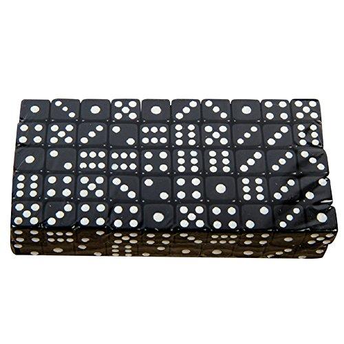 Würfel 6 Seitige Wüfeln Dice Würfel Set für Mathematiklernen Kasino Spiel Fest und Geschenk Mit Einem Beutel 100 Stück 8mm (Schwarz)