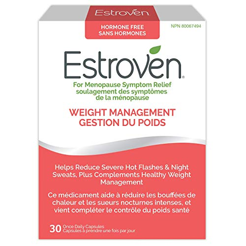 Estroven Weight Management |Menopause Sympton Relief natural health product|Helps Reduce Hot Flashes and Night Sweats| #1 Pharmacist Recommended†| #1 Brand for Menopause Relief in USA††|30 Capsules