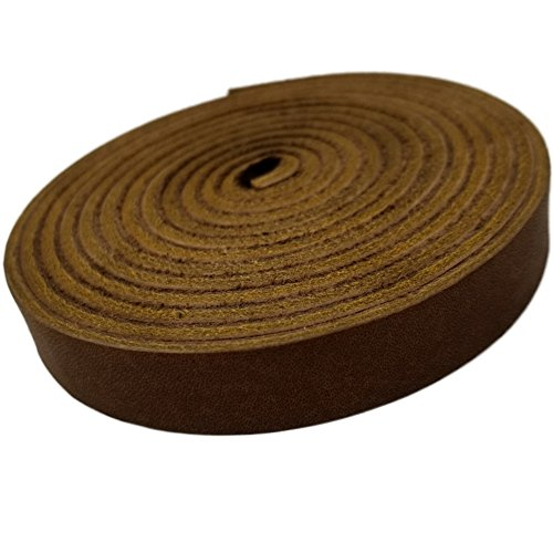 TOFL Leather Strap Medium Brown 1/2 Inch Wide and 72 Inches Long 7-8 oz Thick with NO Splices